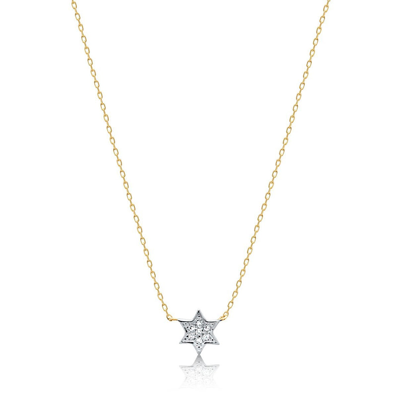 small yellow gold star necklace
