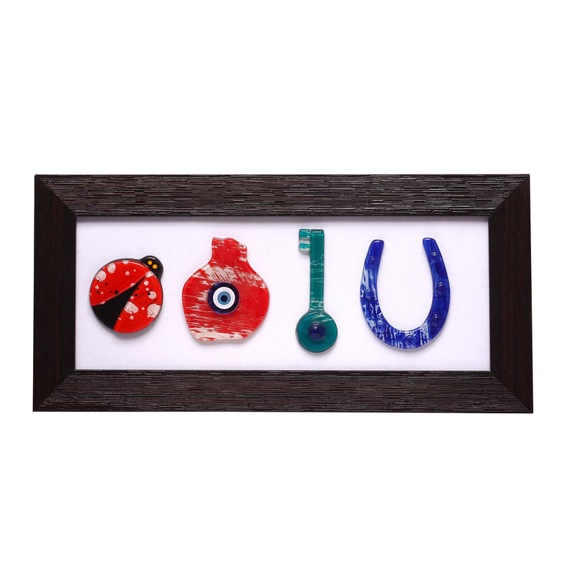 Wall Hanging Decor With Lucky Amulets for Home