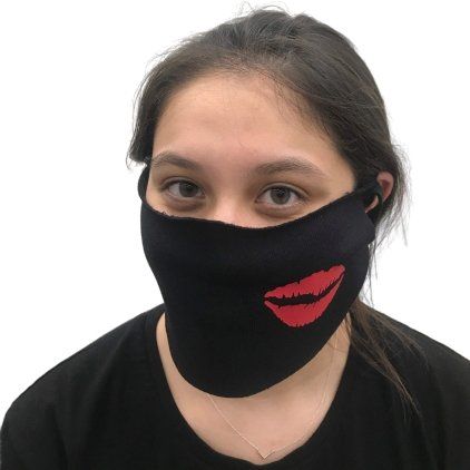 lips kiss mask