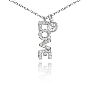Love Necklace in Sparkling Silver