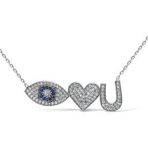 valentine's day necklace with evil eye