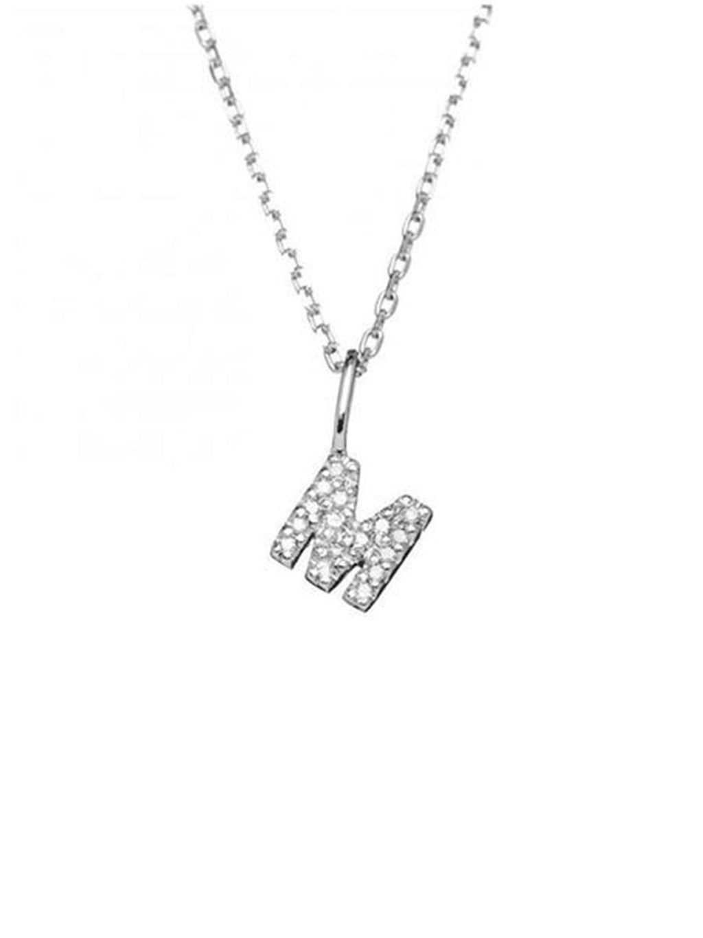Letter Necklace in Real Diamonds - Alef Bet Jewelry by Paula
