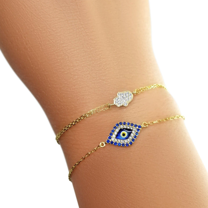 lucky evileye and hamsa bracelet jewelry
