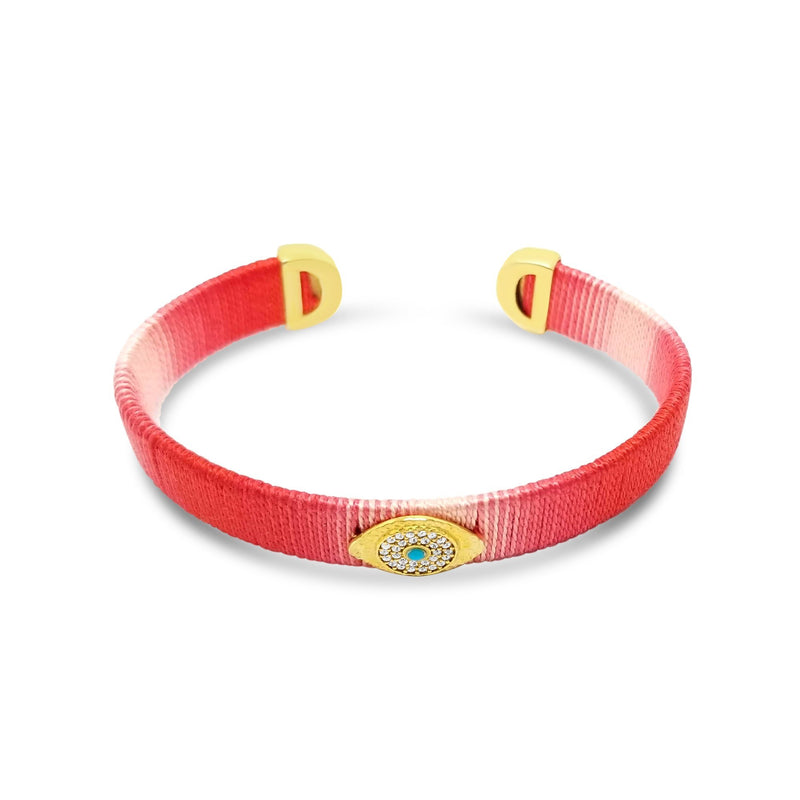 red eye bracelet in gold