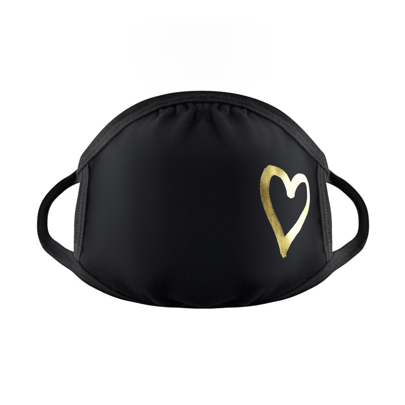 gold foil heart mask