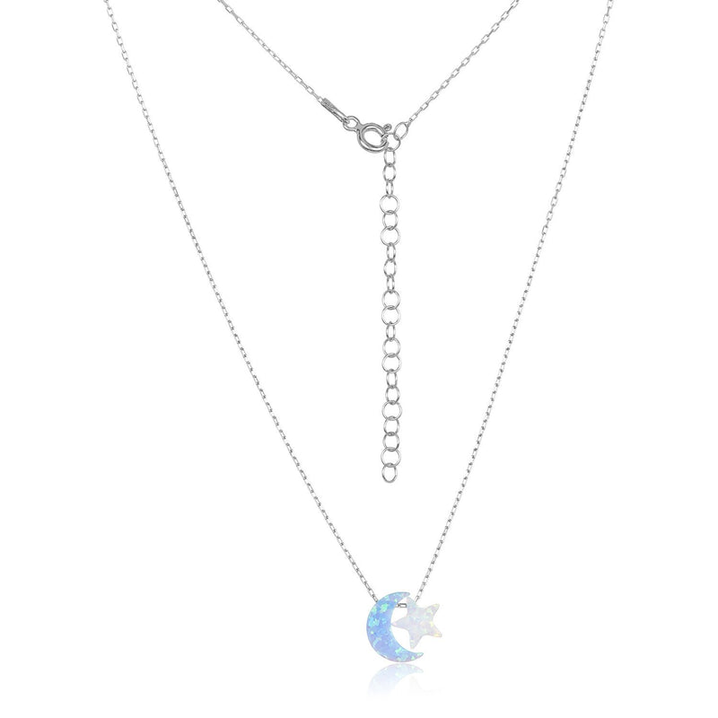 moon with star necklace