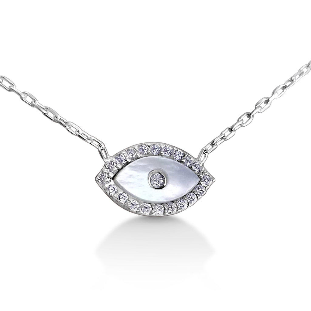 lucky eye necklace silver