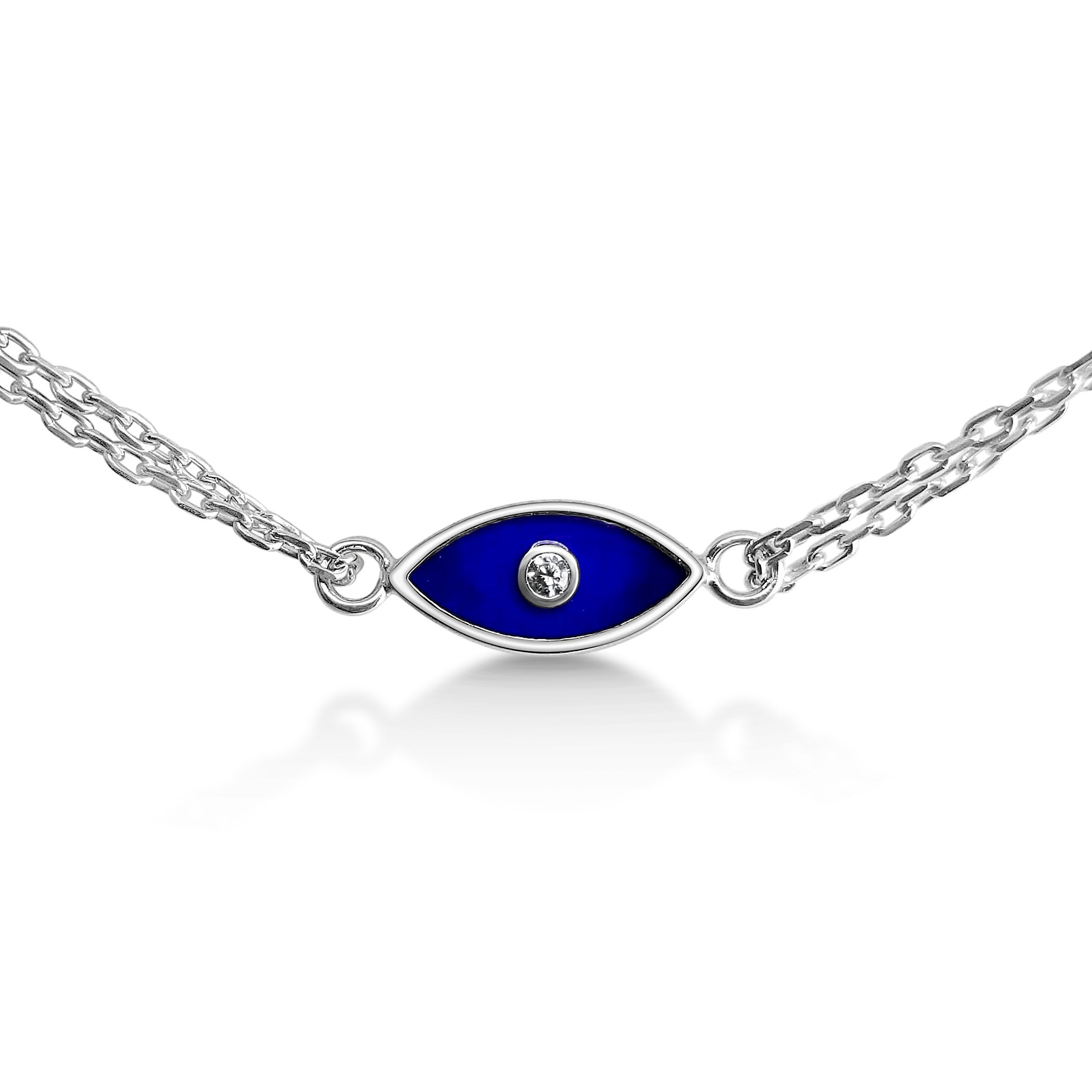 Evil Eye Bracelet in Navy Blue