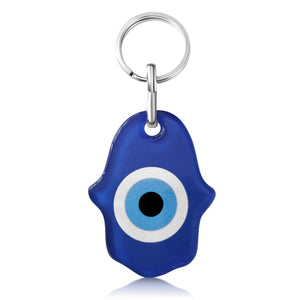 traditional evil eye blue hamsa keyring