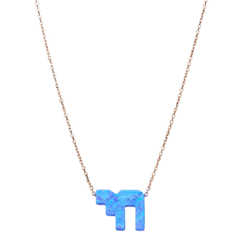 Blue Opal Chai Necklace