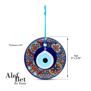 dimensions turkish artwork evil eye wall hanging