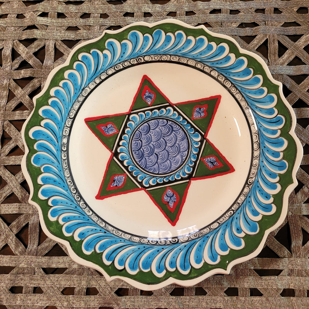 Jewish Star of David Decorative Handmade Platter