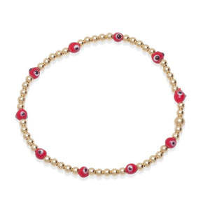 evil eye bracelets with red for protection