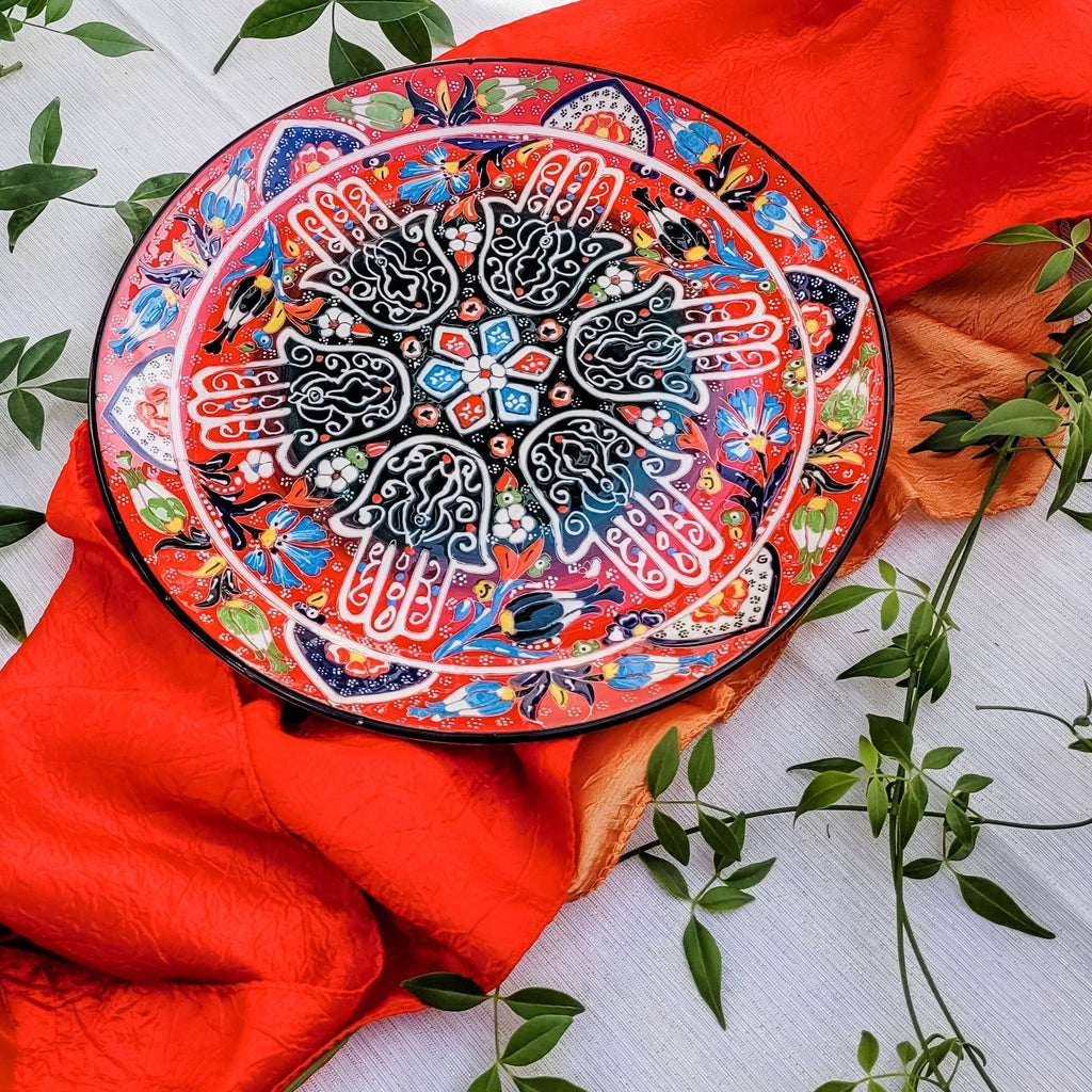 hamsa hand red food platter