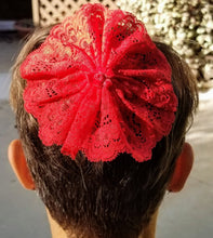Red Lace Woman's Kippah