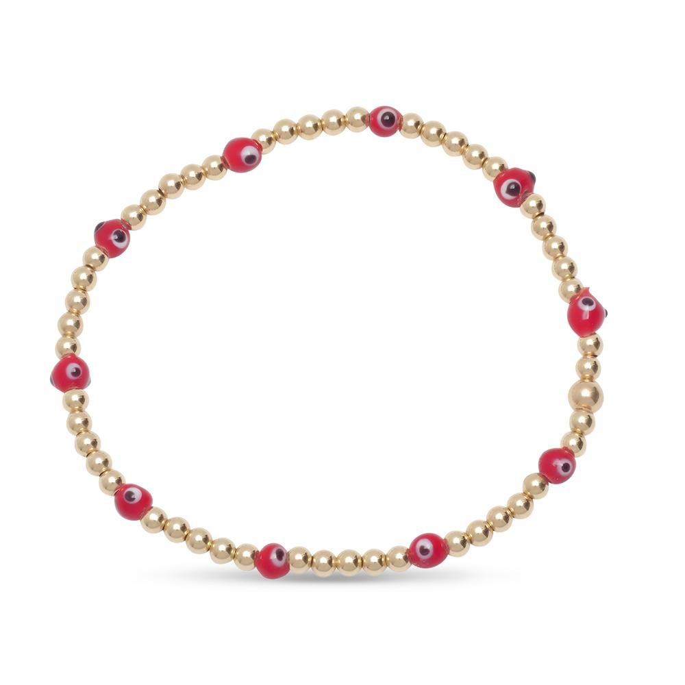 Multiple Red Protection Evil Eye Bracelet