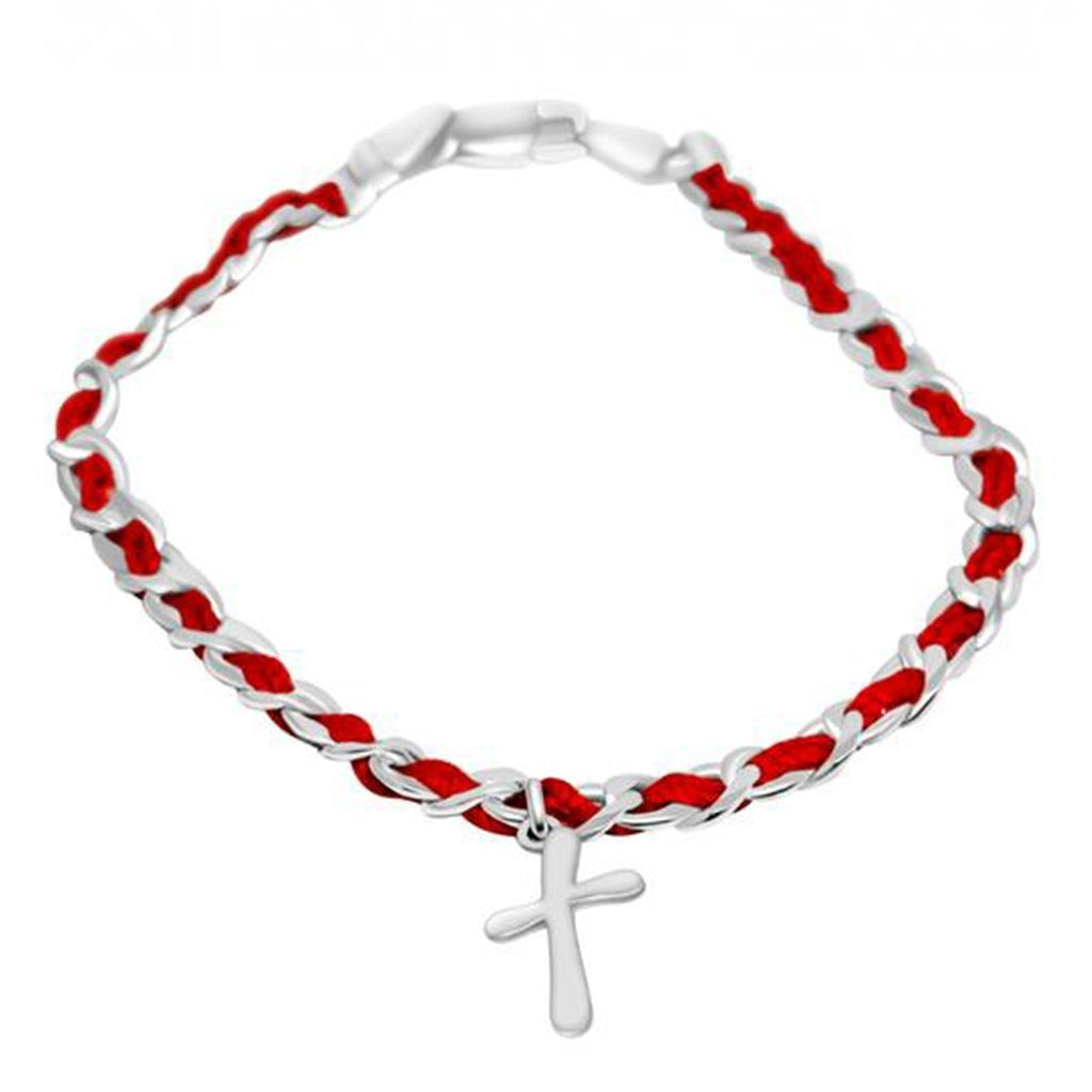 cross red string bracelet