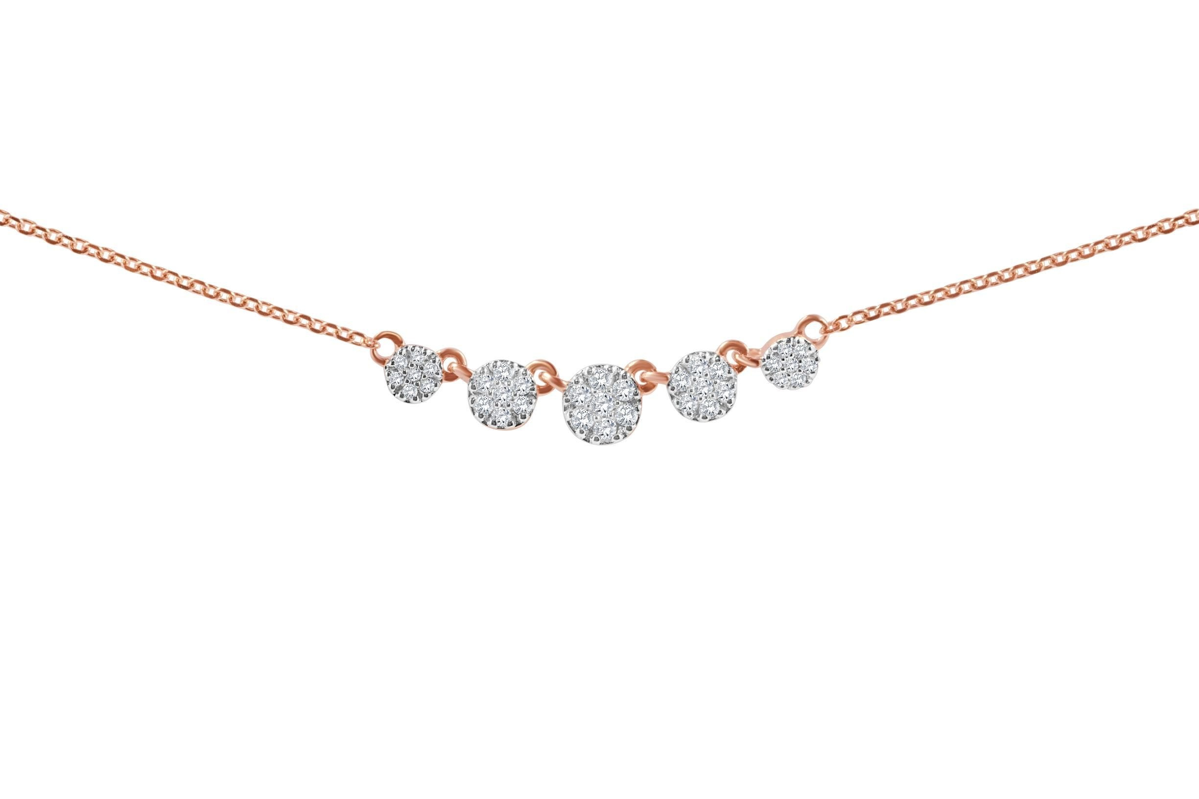 Diamond Cluster of Circle Necklace
