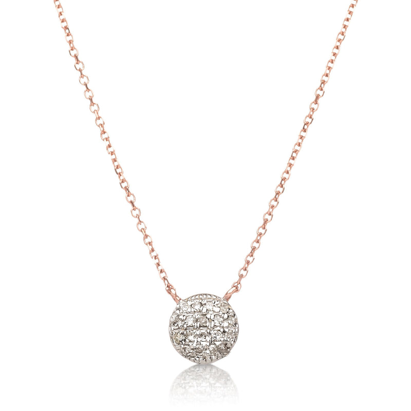 Diamond Dot Necklace in 14k Gold