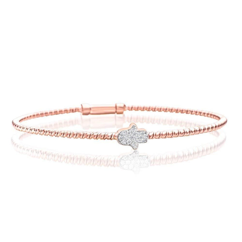 rose gold hamsa bangle bracelet