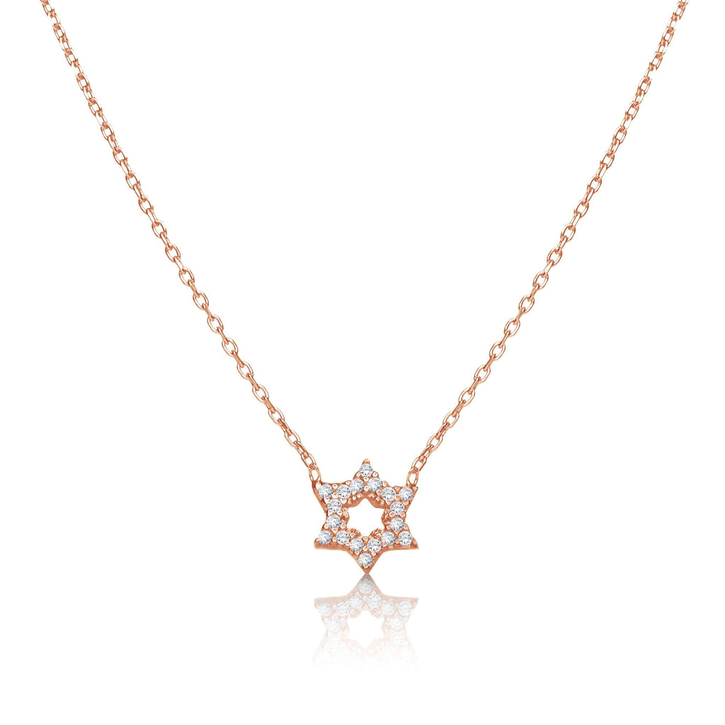 rose gold jewish star necklace
