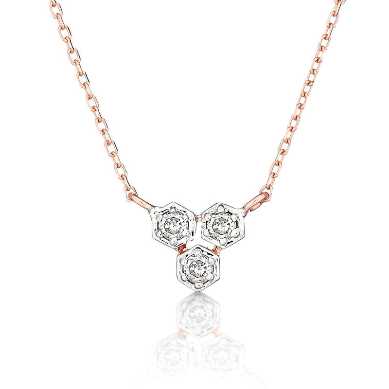 dainty diamond necklace | alef bet jewelry