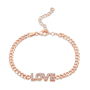 love bracelet in rose gold