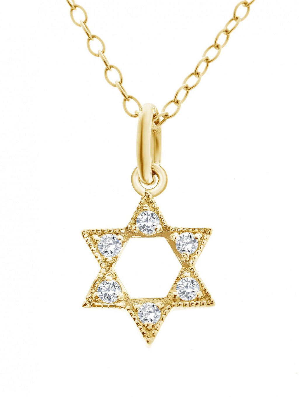 Diamond Star Necklace + Bat Mitzah Gift - Alef Bet Jewelry by Paula