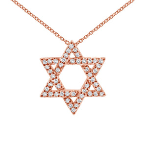 jewish star in diamonds