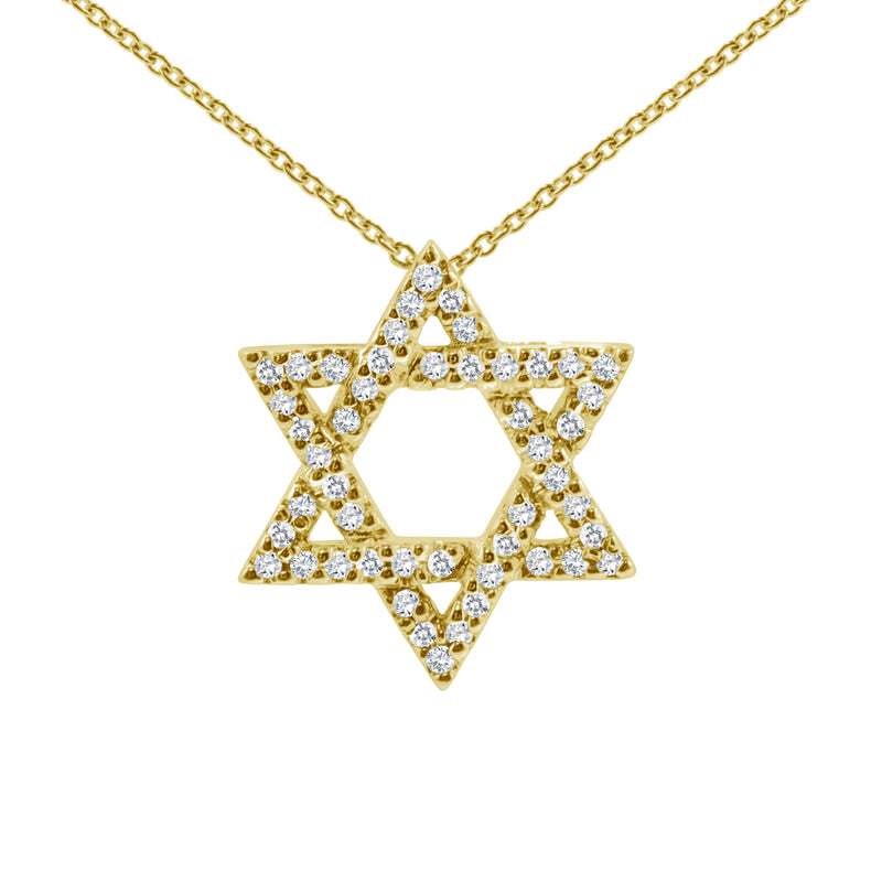 gold star of david with diamonds
