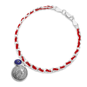 saint benedict red string fate bracelet