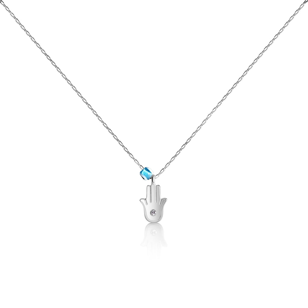 hamsa with evil eye necklace