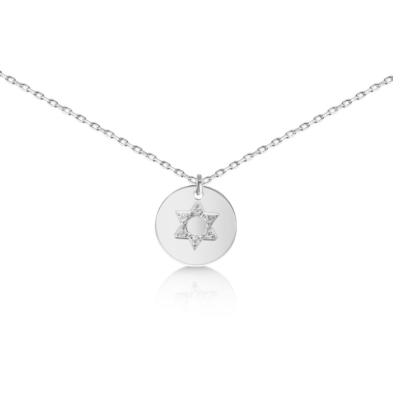 jewish simple star necklace