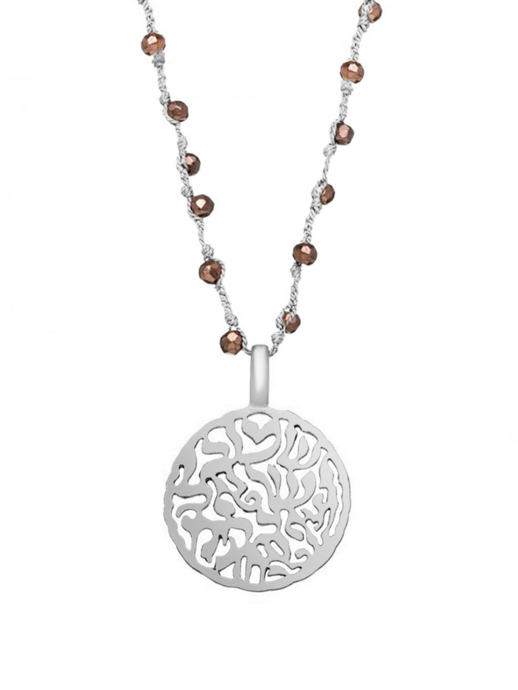Bohemian Shema Prayer Necklace - Alef Bet Jewelry by Paula