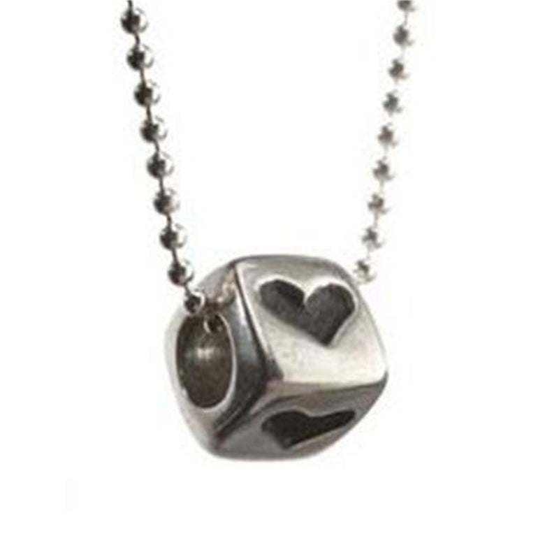 Heart, Star or Chai Cube On Chain - Alef Bet Jewelry by Paula