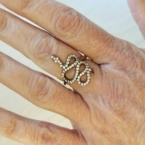 Snake Ring - Alef Bet Jewelry by Paula