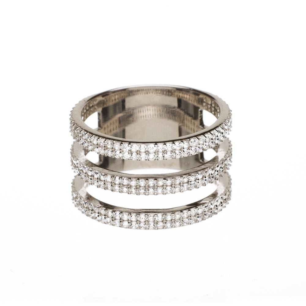 Triple Lineal Ring - Alef Bet Jewelry by Paula