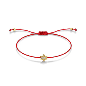 red string jewish star bracelet