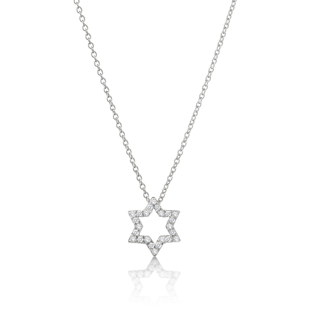 star david necklace gold and diamonds