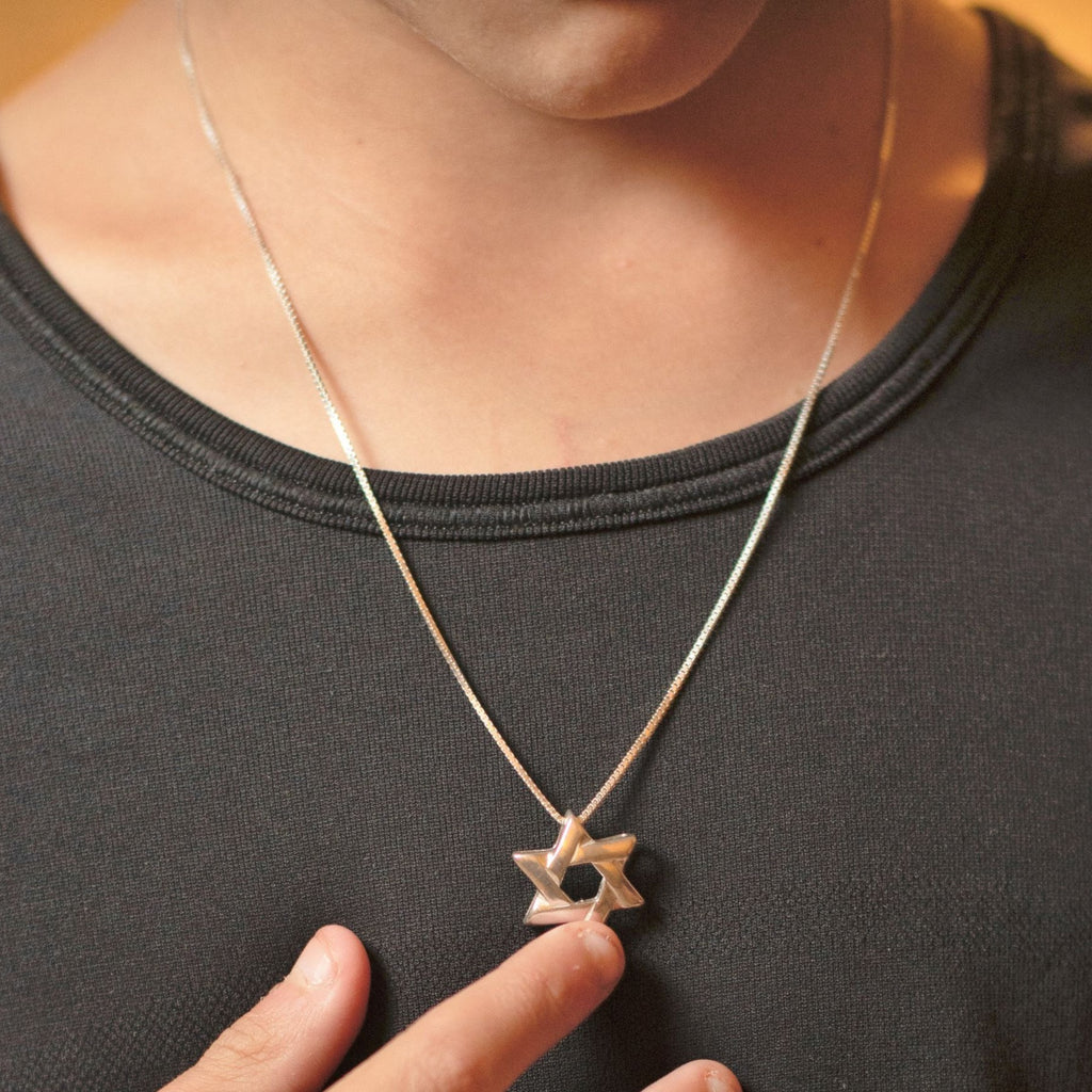 Lineal Star of David Necklace - Alef Bet Jewelry by Paula