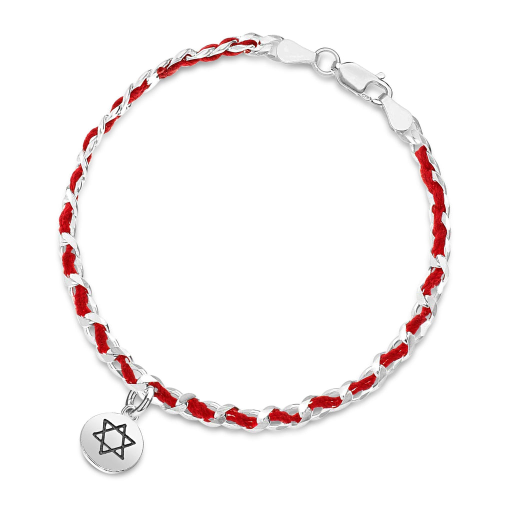 Jewish Star Round Red String Bendel Bracelet