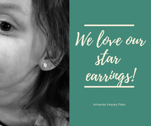 Jewish Star Silver Earrings Even If If Isn't Your Bat Mitzvah! - Alef Bet Jewelry by Paula
