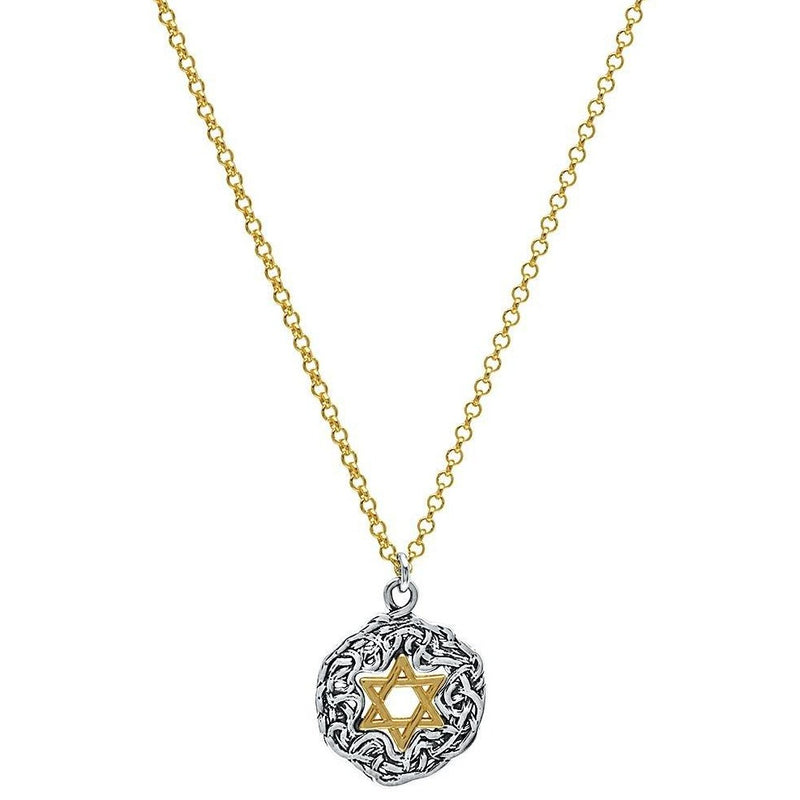 golden Jewish star of david necklace