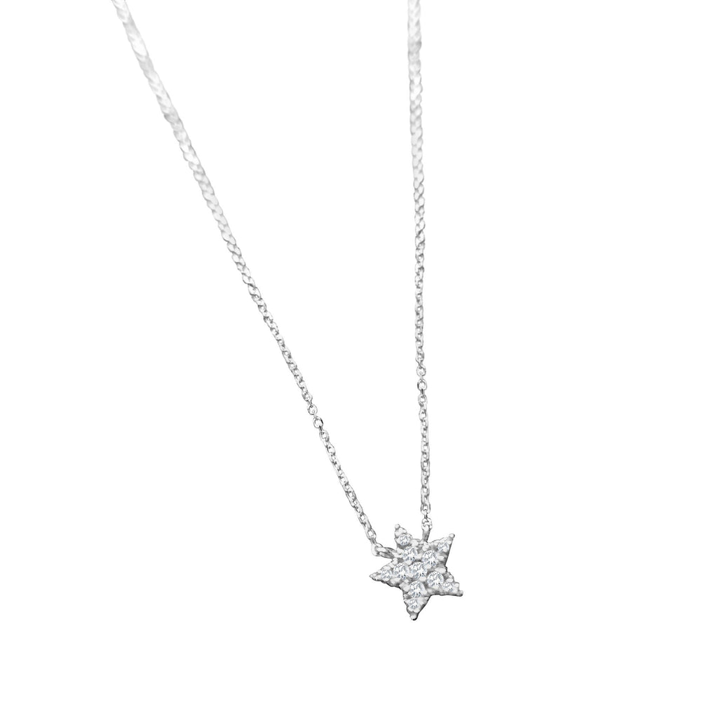 Diamond Sparkling Star Necklace in Gold