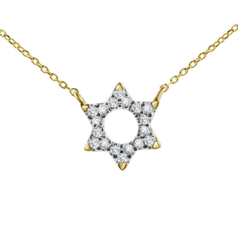 gold star necklace jewish
