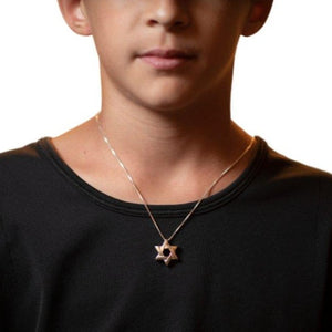 Lineal Star of David Necklace