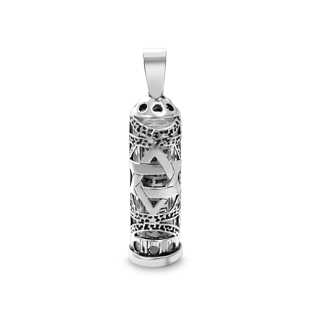 mezuzah charm with star of david
