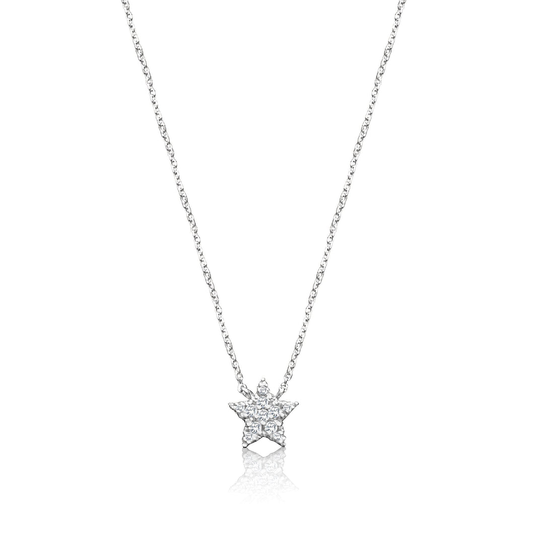 star necklace with diamonds