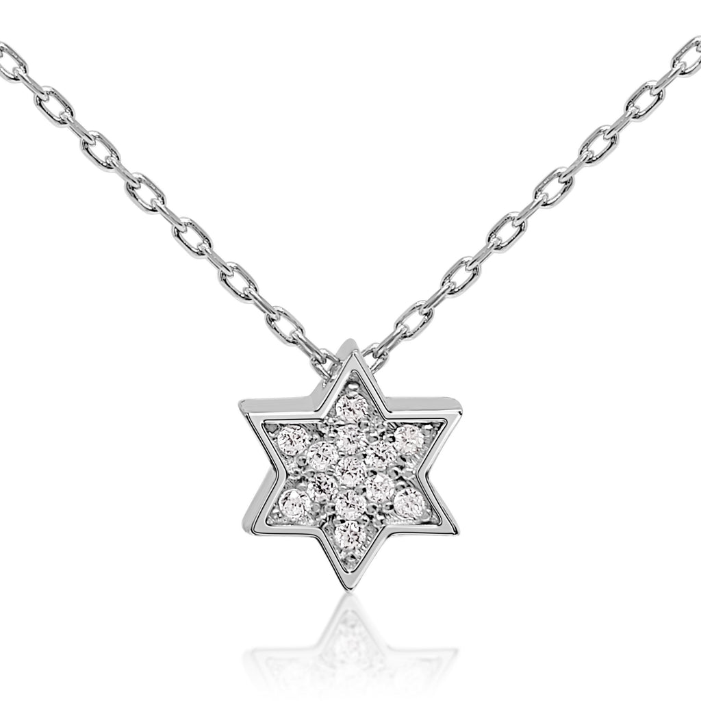 star of david necklace in silver