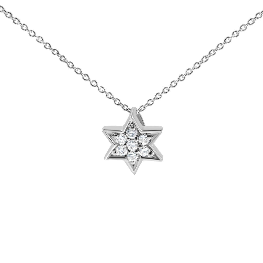 Star of David With Diamonds - Alef Bet Jewelry by Paula